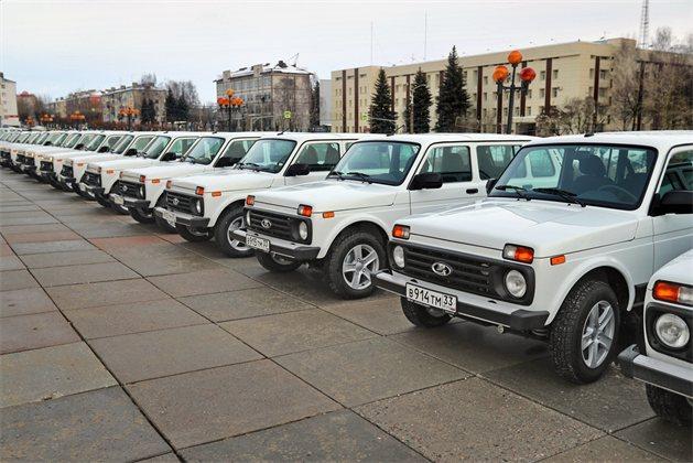 28 новых автомобилей для амбулаторно-поликлинического звена получили районные больницы Владимирской области